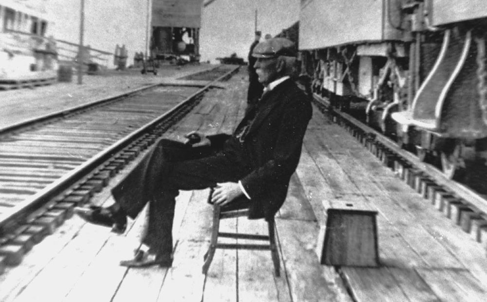 Henry Flagler at the Train Station